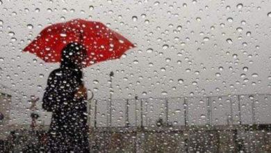 طقس الاربعاء سحب رعدية مصحوبة ببعض الأمطار