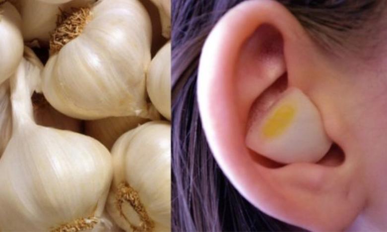 Mettez de l'ail et un oignon dans votre oreille et regarder le résultat